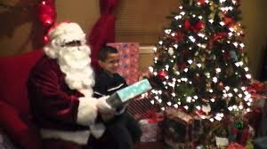 santa claus appears at our christmas eve party youtube