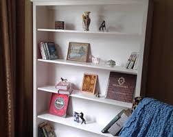 white bookcase etsy
