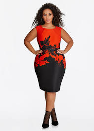 buy plus size red dresses for women ashley stewart