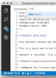 Count Words In A Text Document Visual Studio Code Exle Word Count Extension