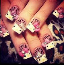 104 best hello kitty nail designs images on pinterest hello