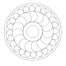 simple mandala coloring pages eson me