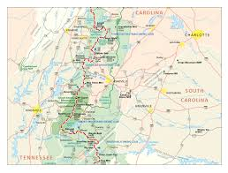 Wilmington Nc Map Appalachian Trail In North Carolina Map Burnsville North
