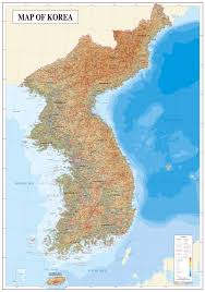 Asia Physical Map by Large Physical Map Of Korean Peninsula With All Cities South
