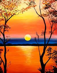 sunset canvas painting best 25 sunset paintings ideas on pinterest
