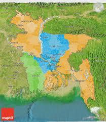 Map Of Bangladesh Political 3d Map Of Bangladesh Satellite Outside