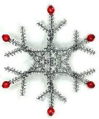 pipecleaner and bead snowflake http www ecrafty casearch
