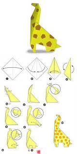 Paper Hanging L Afocal Bretagne Un Pliage Peu Compliqué Pour Une Girafe Qui Fait