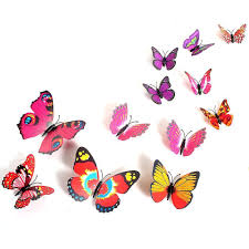 amazon com 2013newestseller 12pcs colorful 3d butterfly sticker amazon com 2013newestseller 12pcs colorful 3d butterfly sticker art design decal wall stickers home room decor home kitchen