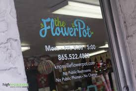 glass door signs logo design and graphics for the flower pot high res blog
