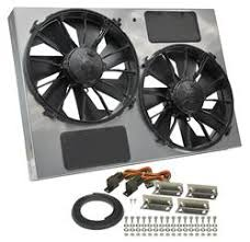 electric radiator fans and shrouds derale high output dual rad fan and shroud kits 16927 free