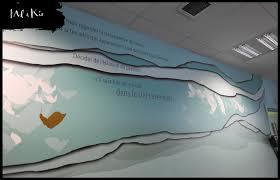 la banque postale si e social mural sur mesure pour le siège de la banque postale financement