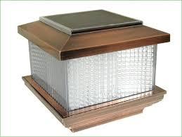 lighting maine ornamental solar post cap lights 5x5 solar post