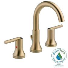 delta tesla 8 in widespread 2 handle bathroom faucet with metal