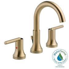 Delta Bathroom Faucets by Delta Tesla 8 In Widespread 2 Handle Bathroom Faucet With Metal