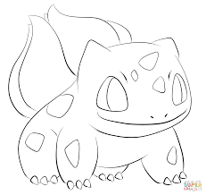bulbasaur coloring page free printable coloring pages