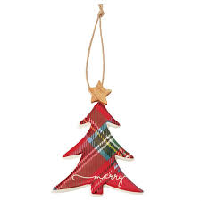mud pie christmas ornaments tree tartan ceramic ornament mud pie
