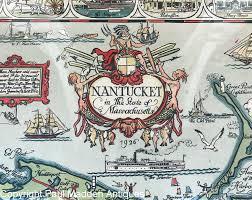 Nantucket Map 1926 Map Of Nantucket By Tony Sarg