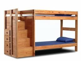 Hardwood Bunk Bed Solid Wood Bunk Beds With Stairs Foter