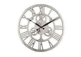 Wall Clock Nickel Cog Wall Clock Furniture Village