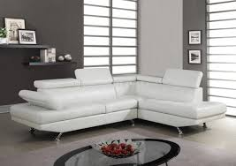 White Leather Sofa Sectional U9782 Sectional Sofa In White Bonded Leather By Global