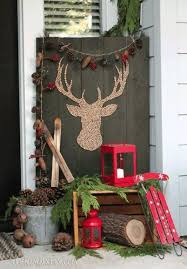 Wooden Christmas Reindeer Decorations by