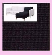 Karlstad Loveseat And Chaise Lounge Ikea Karlstad Loveseat Cover Korndal Dark Gray Texture Slipcover