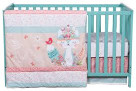 Turquoise And Pink Baby Bedding Wild Forever 3 Piece Crib Bedding Set Contemporary Baby