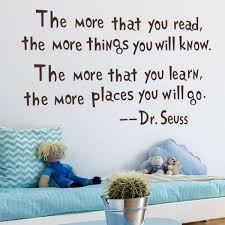 dr seuss the more you read wall decal removable wall sticker home
