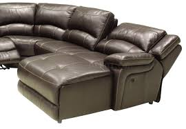 Sectional Sofas With Recliners by Full Leather 6pc Modern Reclining Sectional Sofa