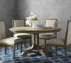 pedestal table with chairs linden pedestal dining table belgian gray pottery barn