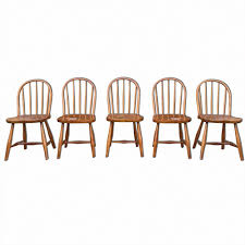 Vintage Wooden Dining Chairs Vintage Beech Dining Chairs By Josef Frank For Thonet Set Of 5