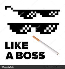 Pixel Sunglasses Meme - pixel glasses vector like a boss thug lifestyle for meme photos