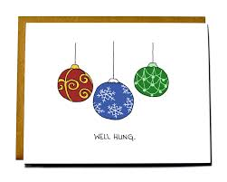 card well hung ornaments