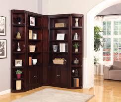 Shelf Floor L Brown Wooden Corner Shelf Units With Some Racks And Doors
