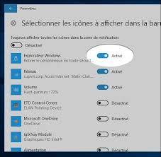 comment faire apparaitre les icones sur le bureau windows 10 toujours afficher une icône dans la barre des tâches