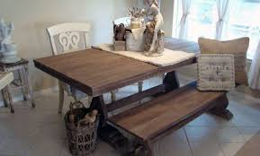 bench wonderful rustic kitchen table with bench furniture