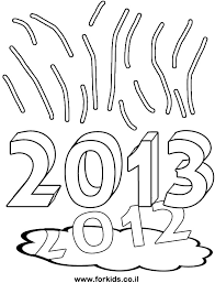coloring page for new year 2013 over falling 2012 www forkids