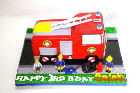 celebrate with cake sculpted fireman sam fire truck cake