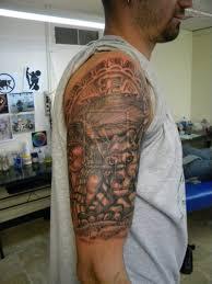 black ink half sleeve tattoo design for men tattoos book