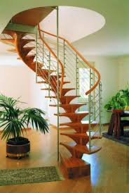 stylish wooden spiral staircase with unique timber spiral stairs
