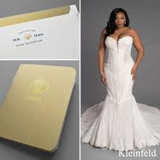 kleinfeld wedding dresses pair up boxed wedding stationery for dresses
