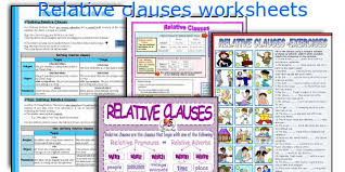 english teaching worksheets relative clauses