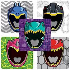 amazon power rangers dino charge masks stickers birthday
