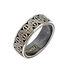 Harry Potter Wedding Rings by Sterling Silver Harry Potter Deathly Hallows Ring