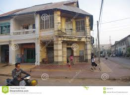 French Colonial Archetecture by Town Of Kampot In Cambodia Editorial Photo Image 39876316