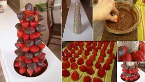 how to make a chocolate covered strawberry tree pictures photos