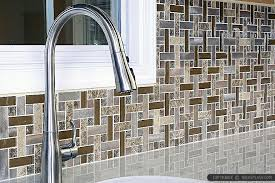 Brown Metal Marble Modern Backsplash Tile Backsplash Tile Ideas - Modern backsplash tile