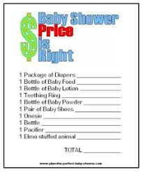 Games To Do At A Baby Shower - 24 baby shower price is right game cards under the sea child