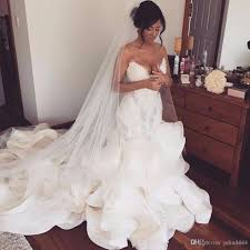 pnina tornai wedding dresses mermaid wedding dresses pnina tornai cathedral ruffles 2018